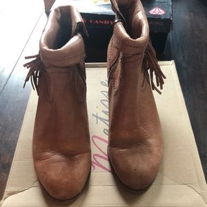 Sam Edelman 8.5 brown booties guc